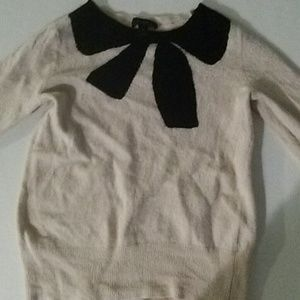J Crew Girls Sweater with bow 100% Wool S